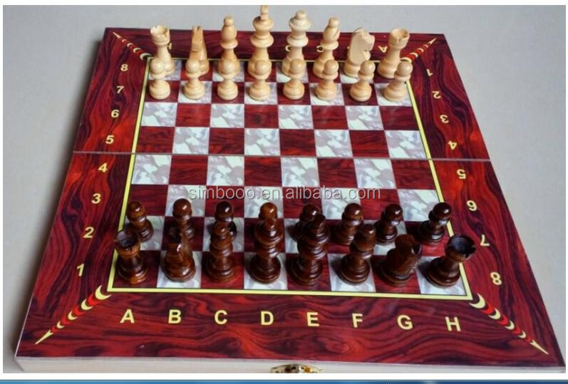 Boutique Folding Large Wooden Chess Board