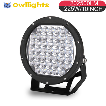 12volt Led Lights Motorcycles10 Inch Round 225w Motorcycle Driving Light High Efficiency Police Spread Beam 10