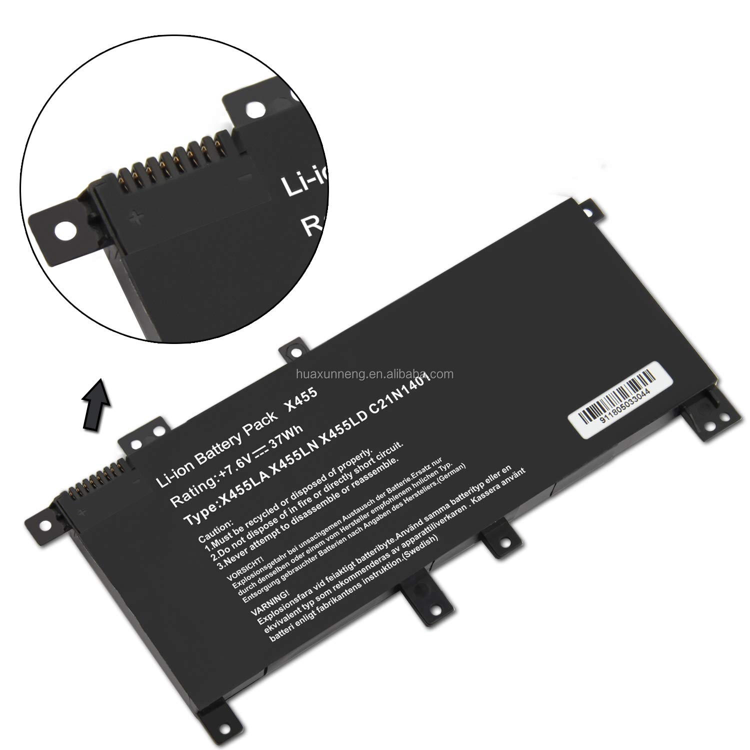 7.6V 37Wh C21N1401 C21PQCH PP21 Laptop Battery for Asus X455 X455LA X455LD X455LN R455LD Series notebook