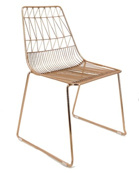 Dining Chair Outdoor Bent Metal Wire