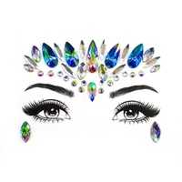 Adhesive Face jewels Gems Temporary Tattoo Face Jewels Festival Party Body Gems Rhinestone Flash Tattoos Stickers