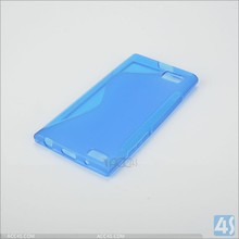 Blue color TPU s-line For Blackberry Leap soft gel case Cover