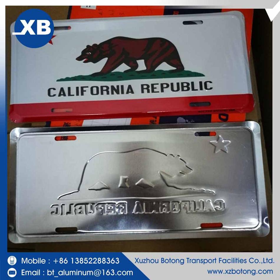 2016 Venta Caliente China Made Fábrica Japón California Matrícula ...