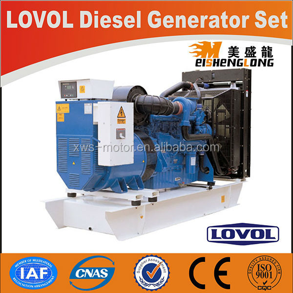 LOVOL power engine electric machine generator set 15kw used diesel generator for sale