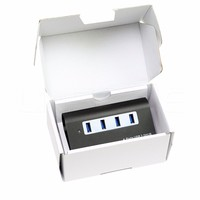 Aluminum wireless multi usb 2.0 hub power adapter usb 4 port SD card reader