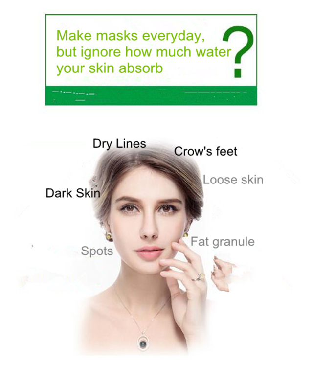 Collagen protein pure plant essence hydrating crystal face mask