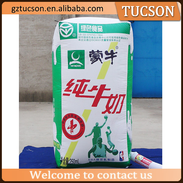 Giant Inflatable Milk Carton, Inflatable milk box for advertising display