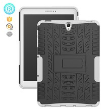 8 color shockproof tpu pc dazzle cover for Samsung Tab S3 9.7 inch t825 with kickstand