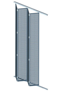 Aluminium Glass louvered Window