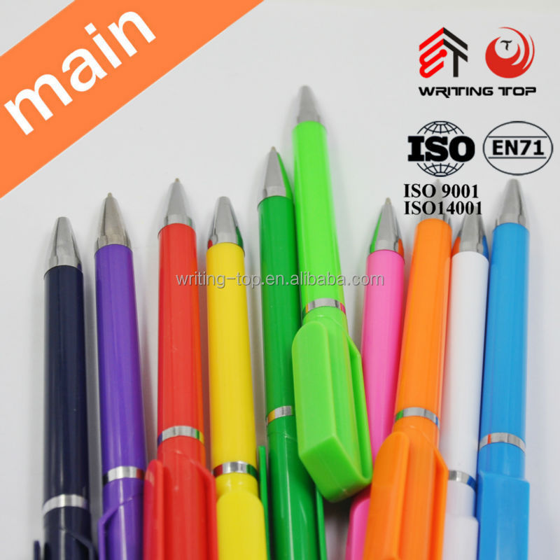 big clip low cost plastic pen