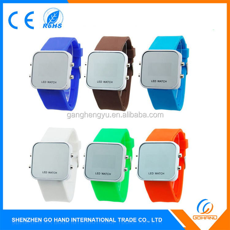 Hot Sell High-end Water Resistant Sport Simple Digital Touch Led Watch