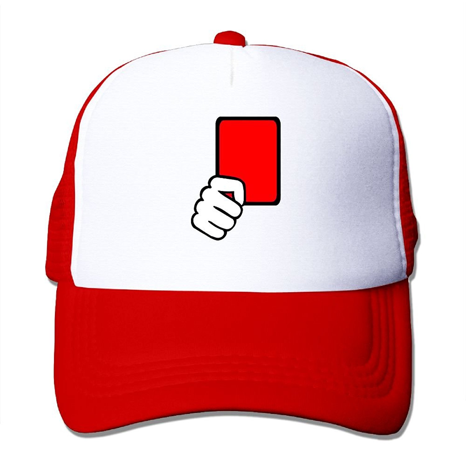 e2bea6bc422 Get Quotations · Crazy Popo Outdoor Sports Hat - Red Card Referee Adjustable  Trucker Hat Cap Adult Unisex Golf