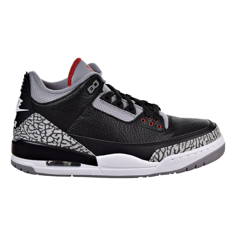 Jordan Air III (3) Retro OG (9.5 D(M) US, Black/White/Cement)
