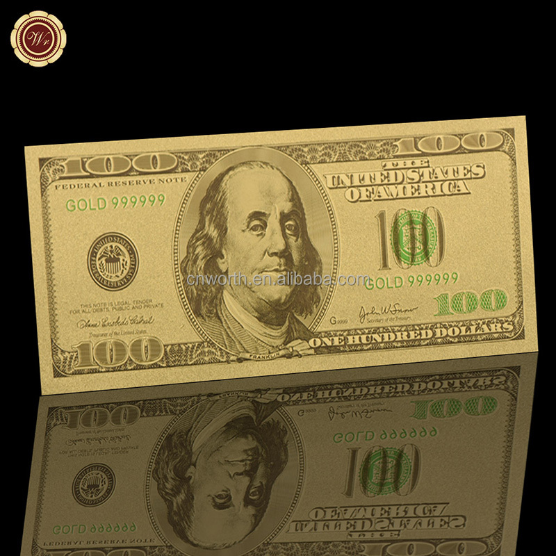 Wr Old American Paper Money Usd 100 24k Gold Banknote Business Gift Gold  Decorative Banknote - Buy Gold Foil Banknote,Us Banknote,24k Gold Banknote