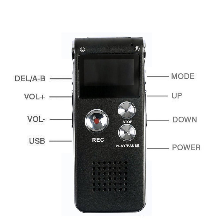 Amazon Hot selling 8GB 16GB Memory Digital Audio Voice Recorder With Mini USB Port