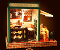 DIY wooden Dollhouse miniatures star coffee bar with furniture 3D puzzles for adult lovers gift