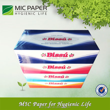 Customized high quality Ultra Soft and Absorbent Box Facial Tissue Paper