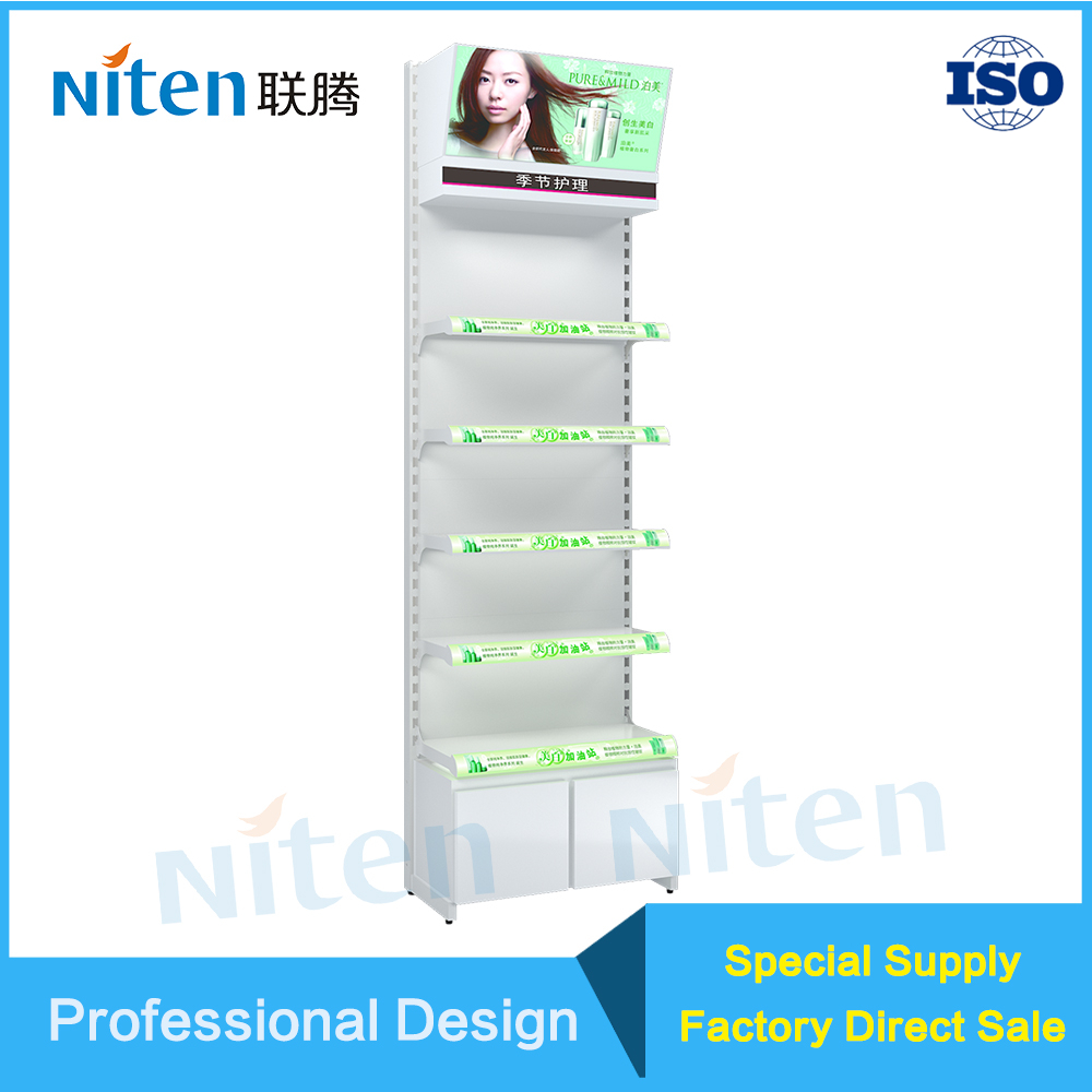 Metal counter display stand for shampoo