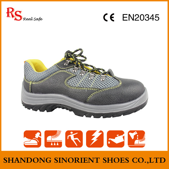 Mens buffalo leather engineering working steel toe light weight safety shoes price in india SNB1065