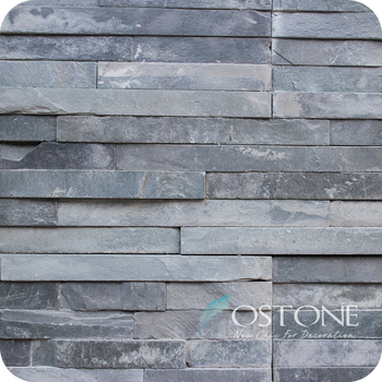 Low Price Decorative Black Slate Rock