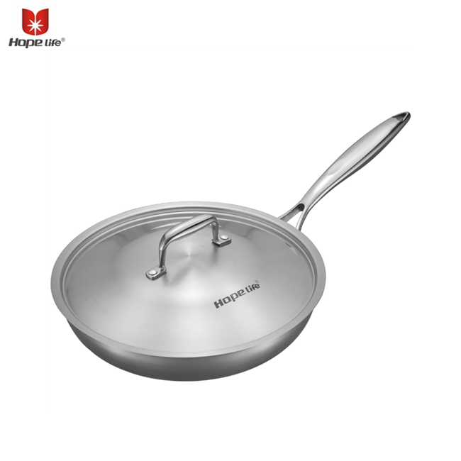 Stainless Steel Nonstick Egg Fry Pan Chinese wokCooking Pot Set Stainless Steel woks