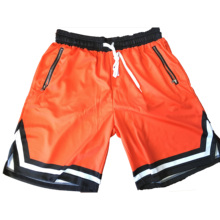 Custom Sublimation günstige <span class=keywords><strong>basketball</strong></span> <span class=keywords><strong>shorts</strong></span> für team mit zipper tasche