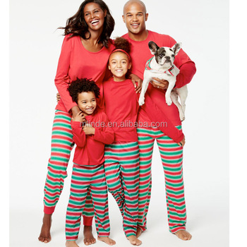christmas festive matching sleepwear family pajamas holiday bright stripe blanks casual easy knit pajama sets soft - Matching Pjs Christmas