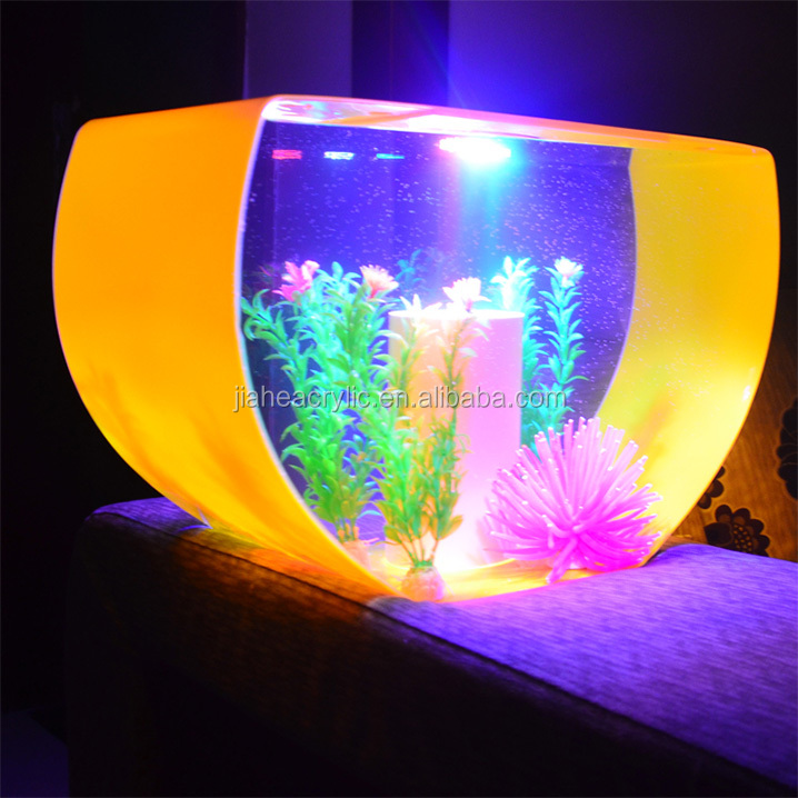 Plexiglass Fish Tank Aquarium Modern Design Led Acrylic Aquarium ...