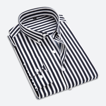 398ee393a05 wholesale cheap spring Shirt Men s Clothes 2018 New Striped Long Sleeves Men  Dress Slim fit Casual