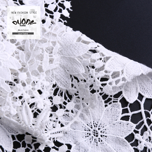 China Products Fancy Duopai Fashion African French Chemical Lace Fabric Embroidery