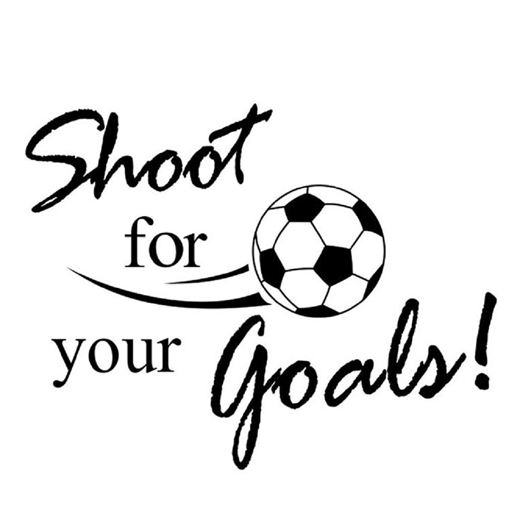 Outtop Shoot For Your Goals Football Soccer Removable Decal Wall Sticker Home Decor