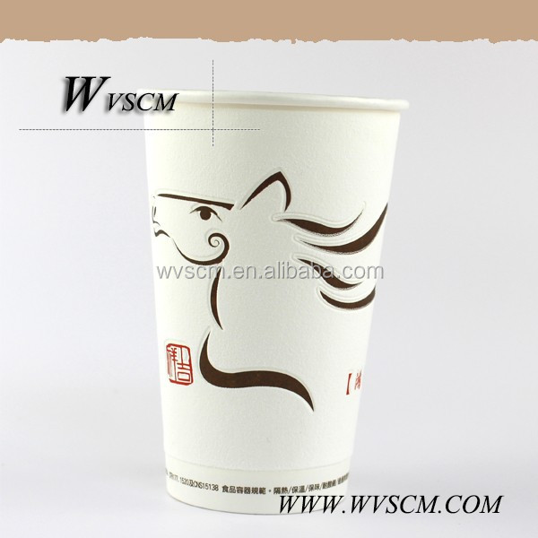 2014 high quality disposable foam paper cup with pp coated