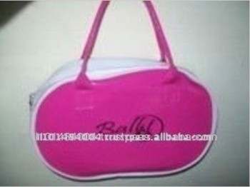 Pink Color Ballet Designed Girls Cute Cosmetic Bag