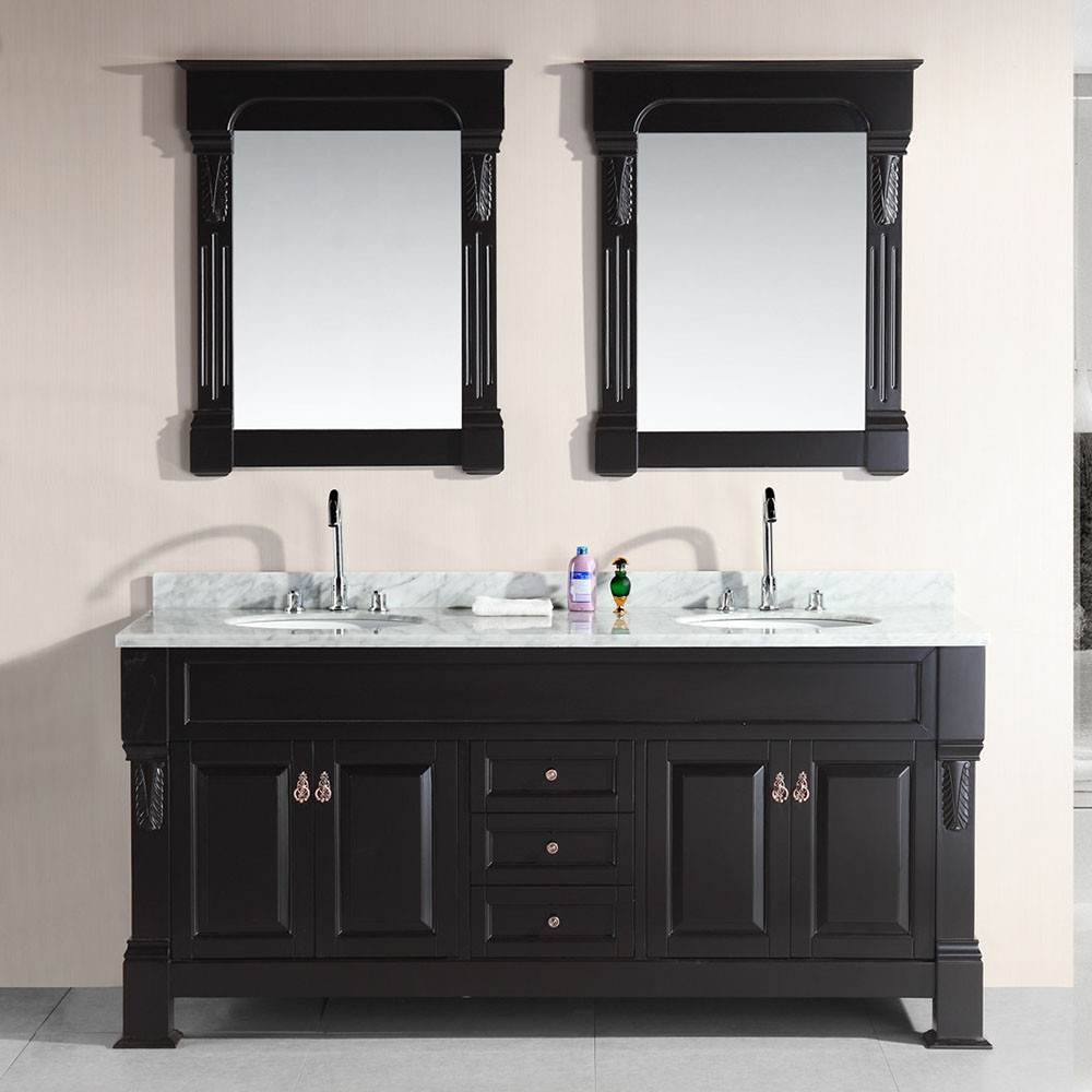 luxury lacquer art in vanities italian black bathroom lutetia wood vanity deco gold