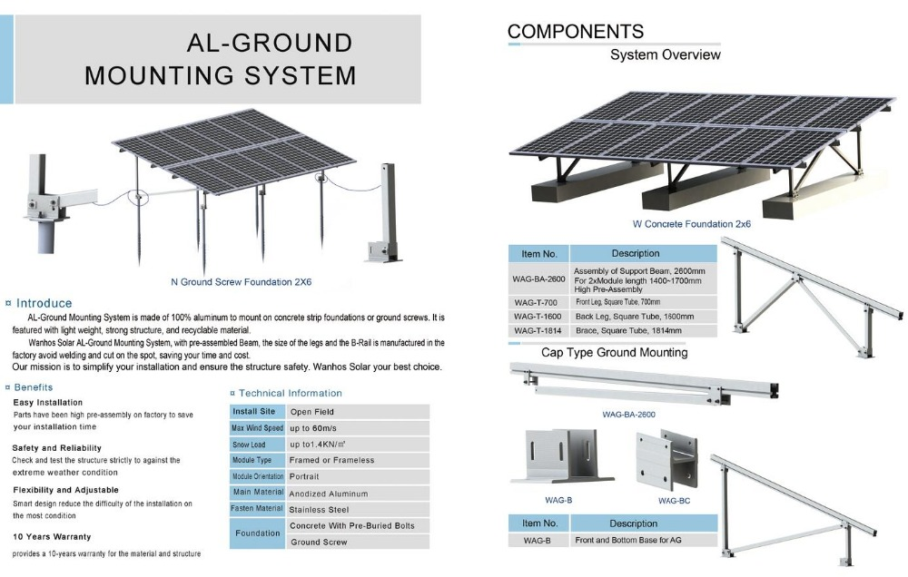 Photovoltaic System Solar Mounting Structure Design