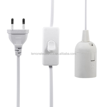 12 ft cord e26 light bulb socket to euro ac wall outlet plug adapter rh alibaba com