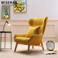 Wholesale comfortable modern design leisure style upholstered high back single sofa chair living room lounge chair with ottoman