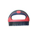 two-color soft grip wire brush round handle