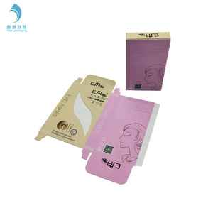 Empty folding boxes luxury wholesale custom 2 pairs eye lash packaging box with your own create brand