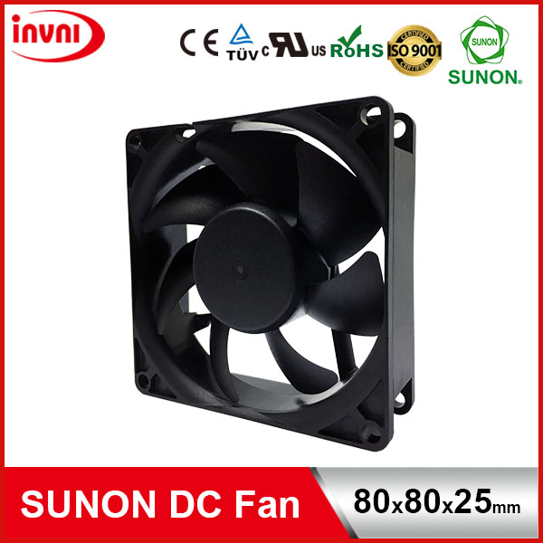 SUNON 12V DC Brushless Axial Flow Computer Cooling Fan 80*80*25 80x80x25 mm 80x80x25mm (PF80251V1-10000-A99)