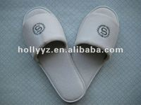2012 hot sale velour open toe mens slippers