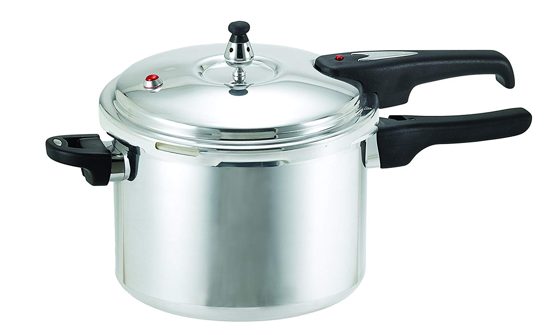 T-fal 92160TA Secure Aluminum 12 PSI Pressure Cooker Cookware, 6.3-Quart, Silver