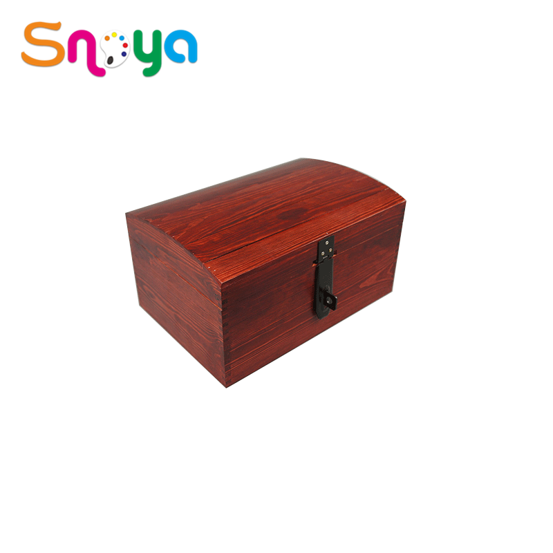 Natural style new creative art largehinged small wood crates for crafts
