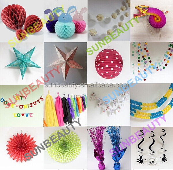 Circle garland hanging circle decoration paper garland for for Latest home decor items
