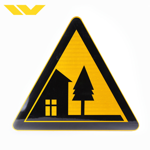 PVC/Aluminum Customized Reflective Traffic Road Sign