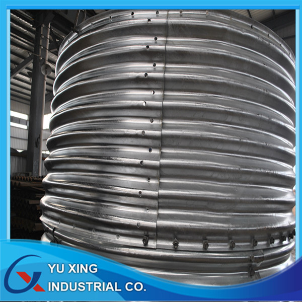 Galvanized Corrugated Metal Steel Culvert Pipe Used For