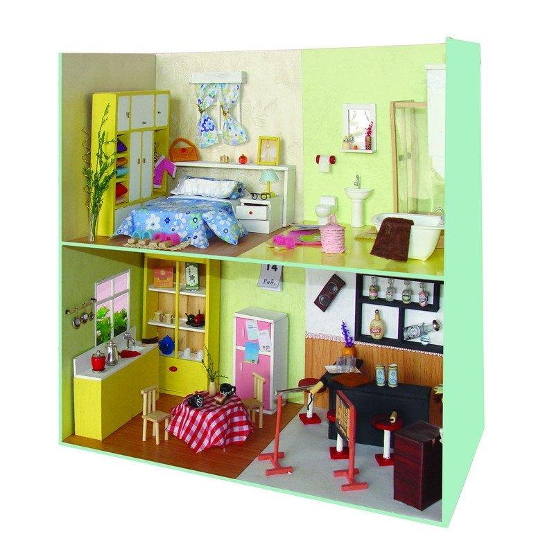 Wooden Dollhouse Miniature Scene Diy Furniture Kits  Buy Diy