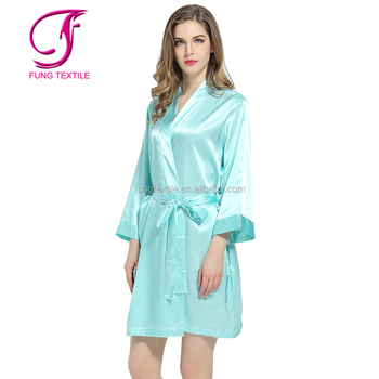 Fung 2903 Solid Silk Satin Personalized Robes Buy Personalized Robes Satin Robe Robes Product On Alibaba Com