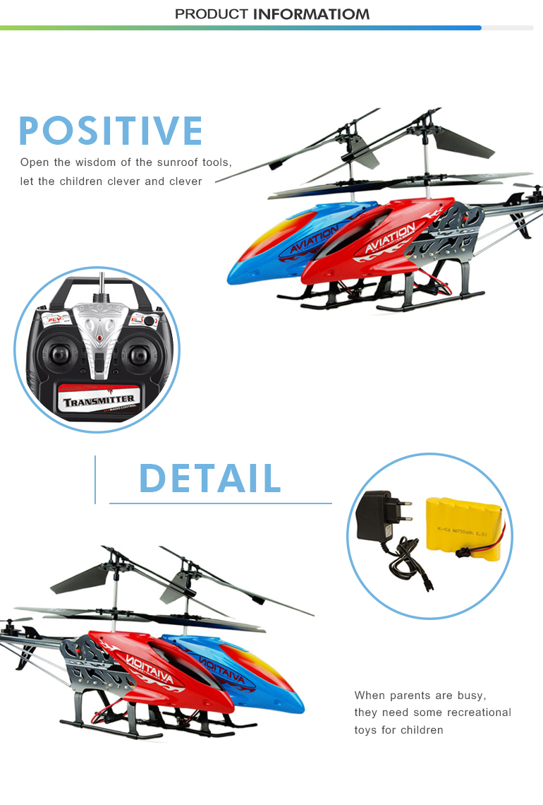 2018 hotsale remote control high quality alloy model helicopter