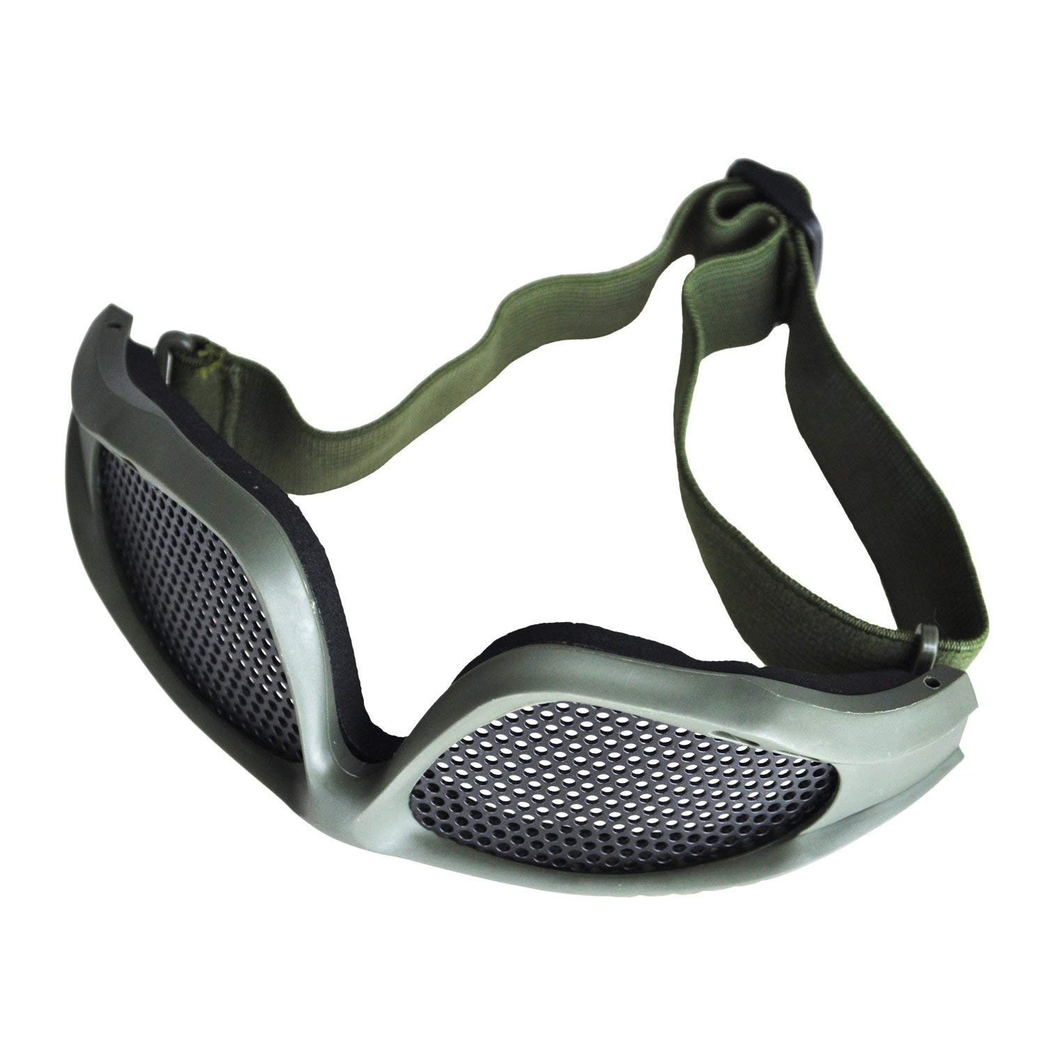 BUYEONLINE Shooting Tactical Airsoft Hunting Sand Metal Mesh Goggles Glasses Army Green